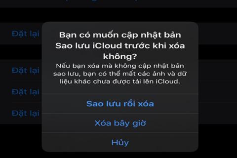 Khôi phục cài đặt - Reset - iPhone không mất dữ liệu