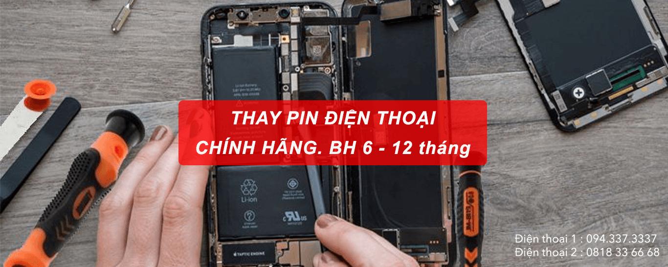 Thay pin điện thoại chính hãng